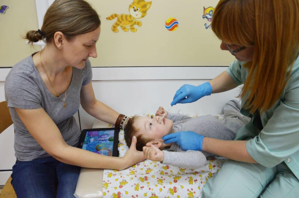 Массаж лица у детей