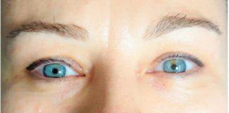 Перманентный макияж бровей до и после